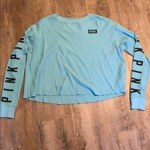 Waffle blue long sleeve